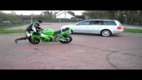 Motorcycle Stunt Totally Backfires