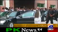 Raja Riaz pulled out of the Zardari Protocol Car