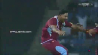 Chris Gayle Dance After The Catch Of Luke Wright