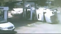 Out of Control Truck Slams Into Ohio Gas Station