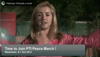 Code Pink activists message on PTI Peace March to Waziristan