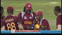 Chris Gayle & West Indies Team Dancing after Beating Australia