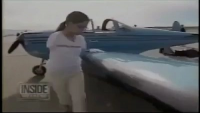Brave Girl With out Hands Flying Plane