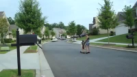 Skating Dog
