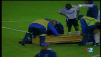 Freak Accident at Football Match!