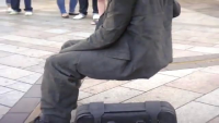 Man sitting on nothing......