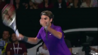 The crowd goes crazy after Federer's insane tennis