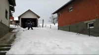Swimmer VS Snow
