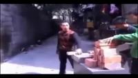 Iron Man Breaking Bricks