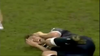 The Most Brutal Football Foul you'll ever see